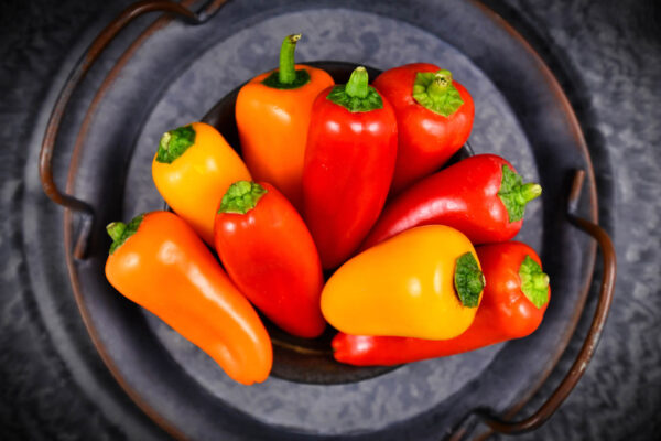 Romanian Sweet capsicums in a bowl