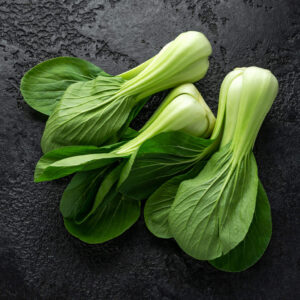 Pak Choi Choko on a black background table