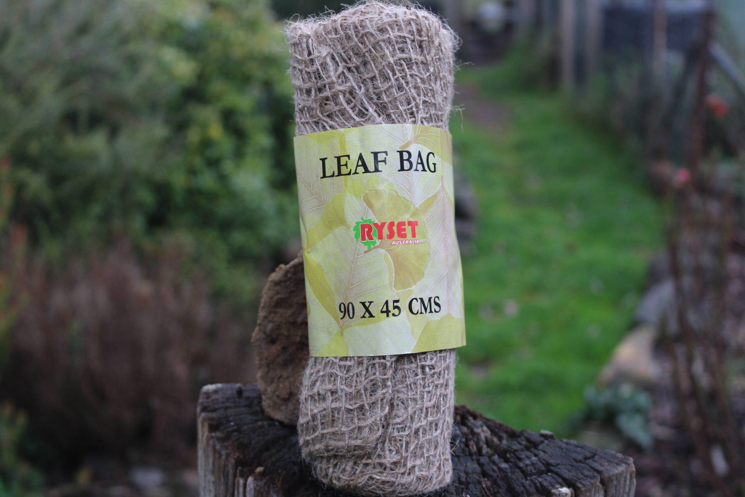 Leaf Bag displayed on a log