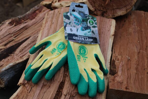 Small Gloves on a wooden stack
