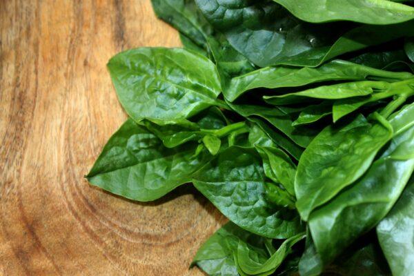 Malabar Green Spinach on Board
