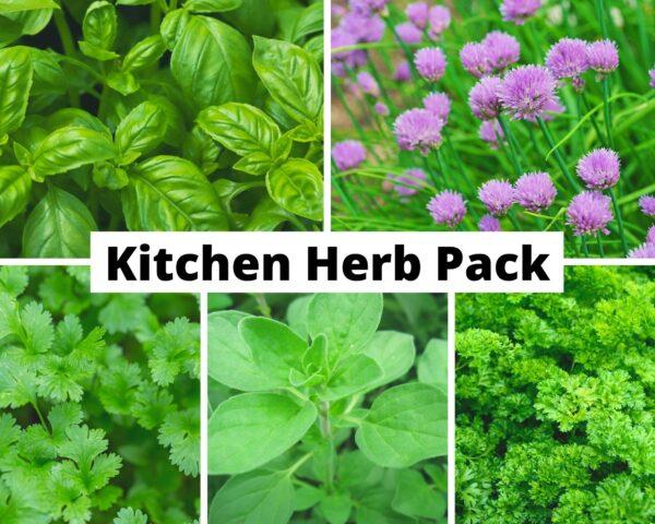Kitchen Herb Pack sign