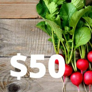 $50 Gift Voucher sign