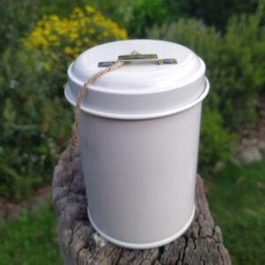 White tin of twine